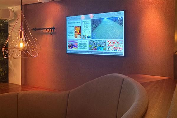Andy Media Signage Gästeinformationssystem im Hotel Brabander