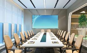 Konferenzraum mit Videotelefonie