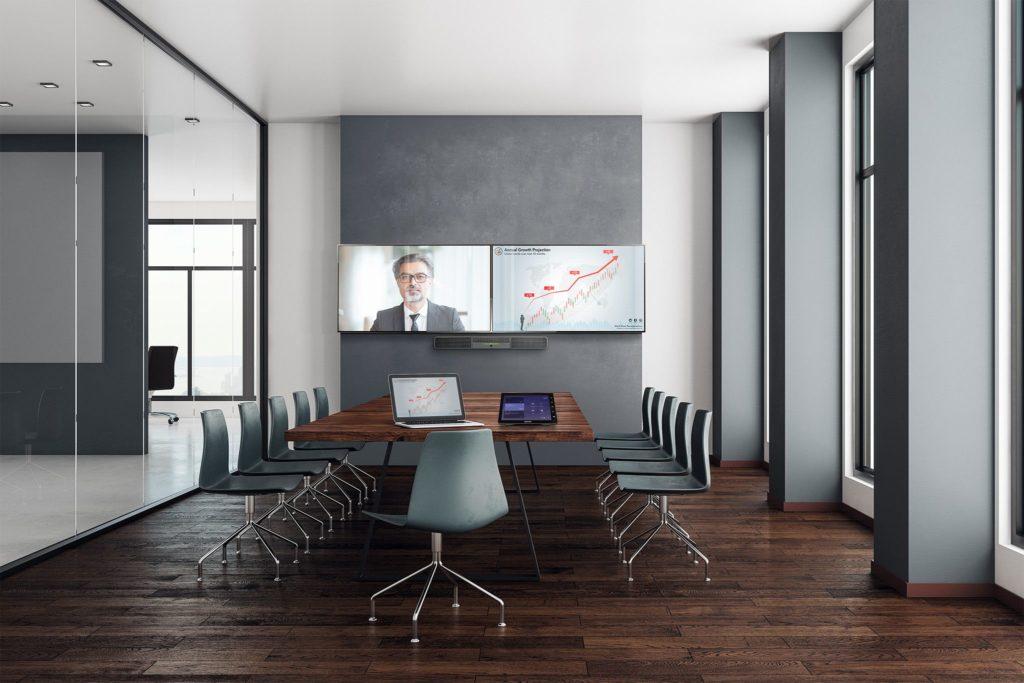 Ausstattung Boardroom mit Crestron Flex