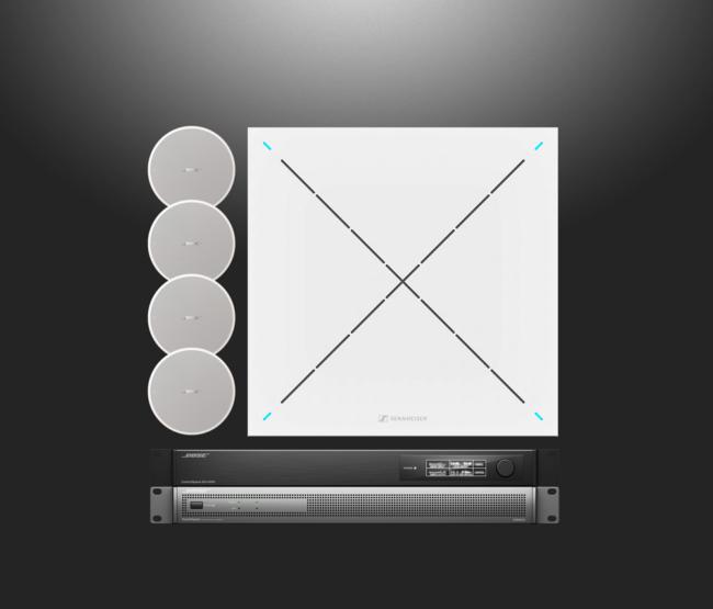 BOSE und Sennheiser Audiolösung mit DM5C