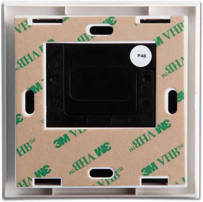 Drahtlose Beleuchtungstastatur an der Wand, batteriebetrieben, weiß