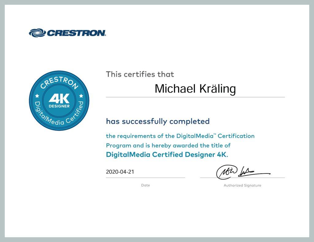 Certificate DMC-D 2020 Andy Mediatainment