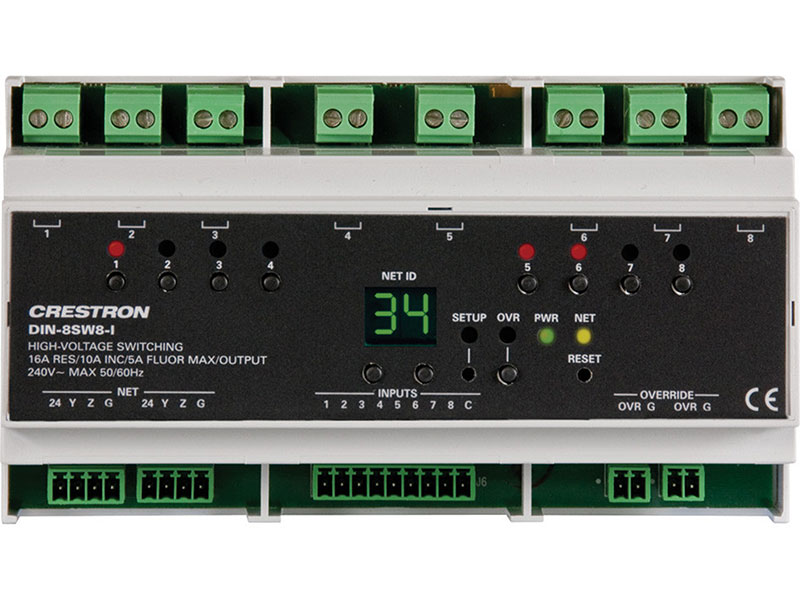 Crestron-DIN-8SW8-I