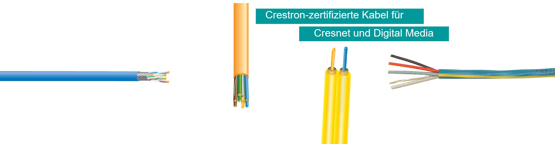 Crestron Kabel für Cresnet und Digital Media