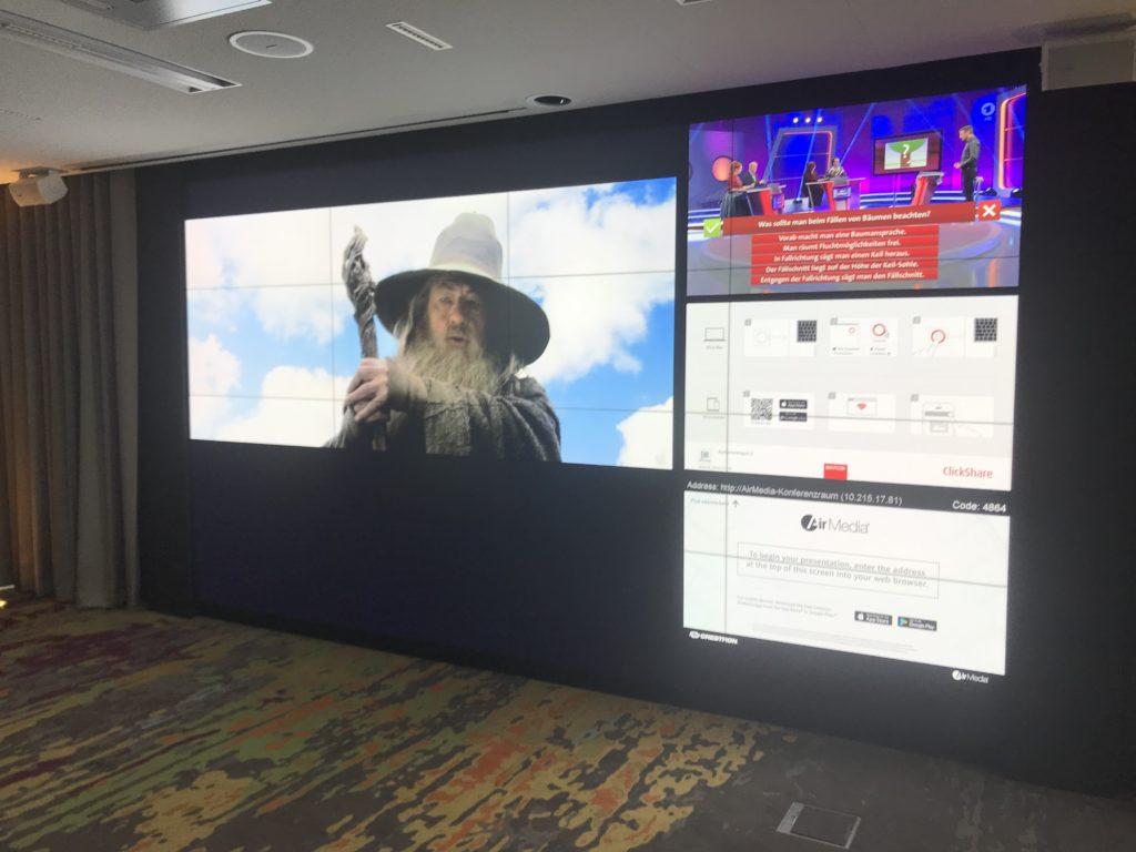 UNISEE Videowand 2*4K-Auflösung, zuspielung über TvOne Coriomaster