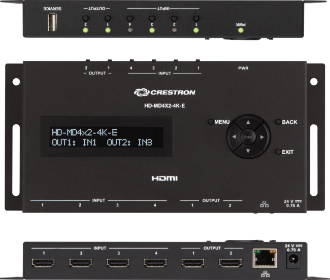 Crestron HD-MD4*2-4K-E Videoumschalter