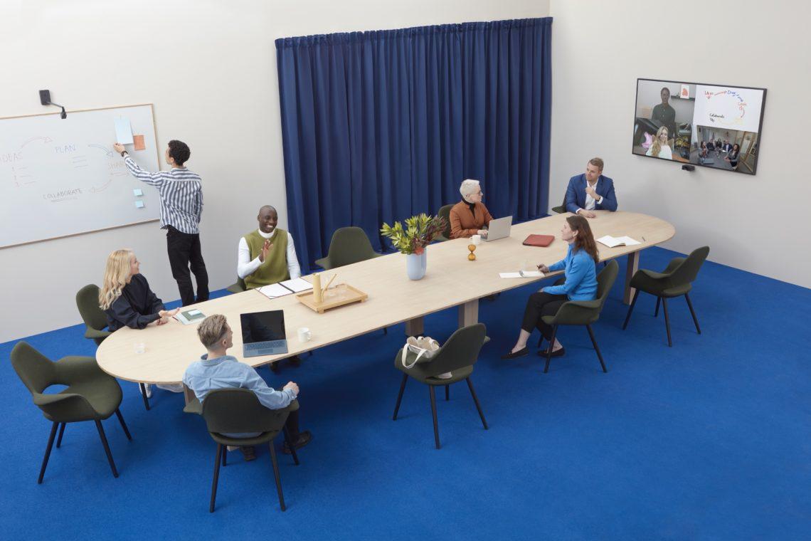 Videokonferenzkamera Huddly L1 für große Konferenzräume mit Canvas Whiteboardkamera