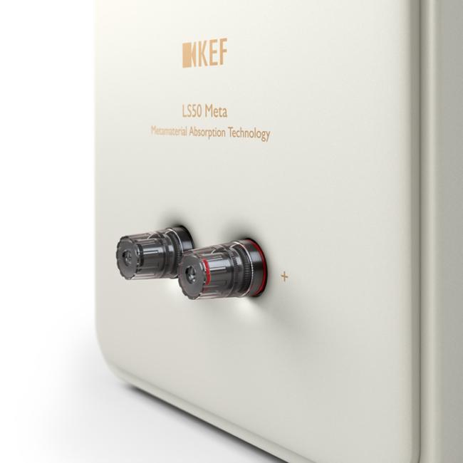 Hochwertiger Lautsprecher KEF LS50 Meta rückansicht