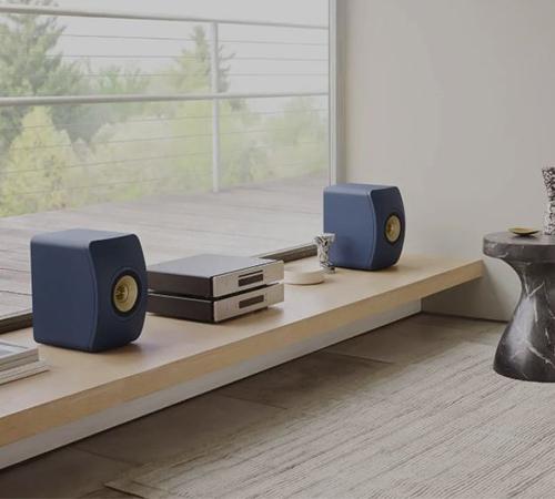 KEF LS50 Wireless 2 blau