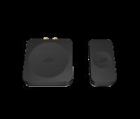 Der KEF KW1 besteht aus einem separaten Sender und Empfänger und arbeitet mit den Subwoofern der KUBE-Serie, dem Kube 8b, 10b, KC62 und 12b, sowie mit dem KF92 Subwoofer.