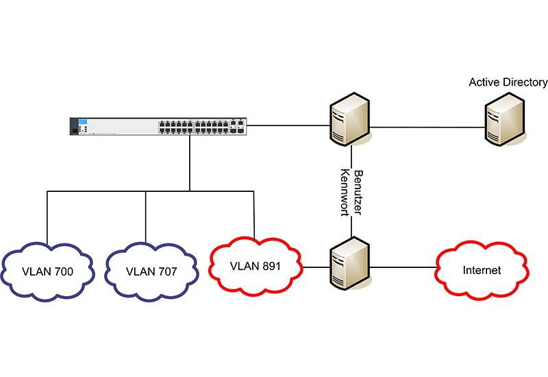 Netzwerkstruktur und Visualisierung