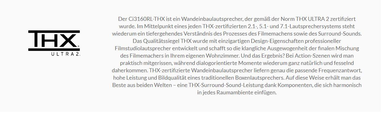 THX zertifizierung KEF Ci3160