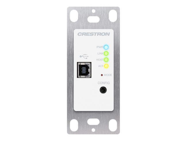 USB über Kategorie Cable Extender Wandplatte, lokal, weiß