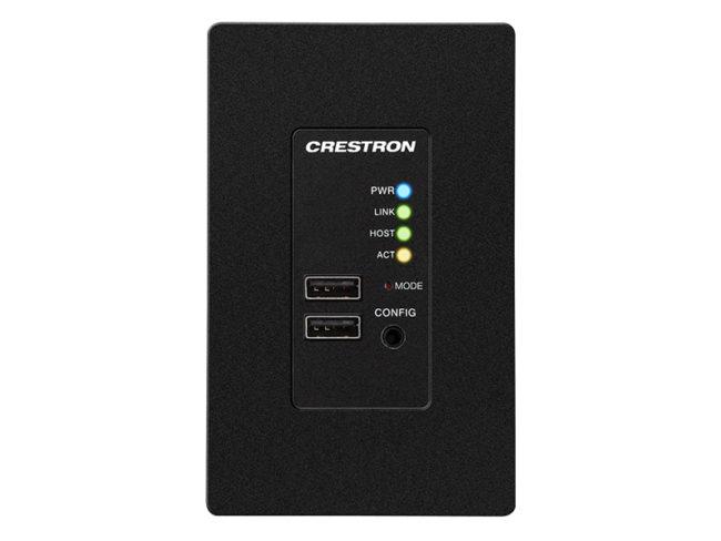 USB über Kategorie Cable Extender Wandplatte, Fernbedienung, Schwarz