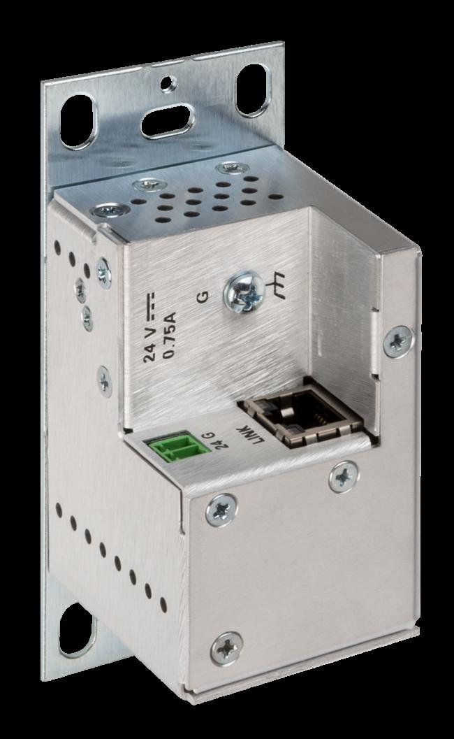 USB-über-Ethernet-Netzwerk-Endpunkt-Wandplatte mit Routing, lokal, schwarz