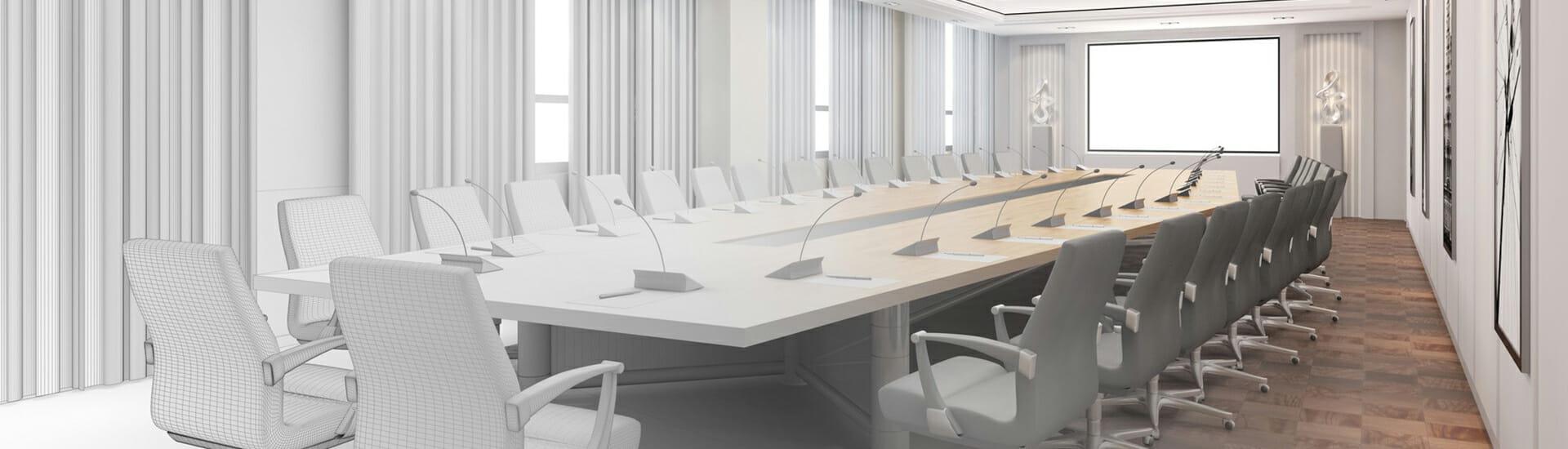 Raumgestaltung Konferenzraum