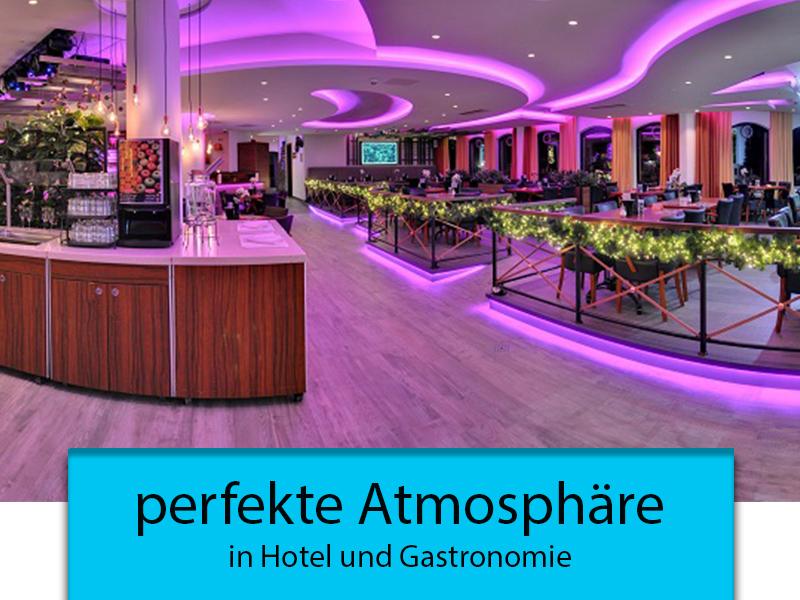 perfekte Atmosphäre in Hotel und Gastronomie